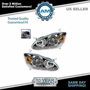 Headlights Headlamps Left Right Pair Set For 04 08 Toyota Corolla S Xr Xrs