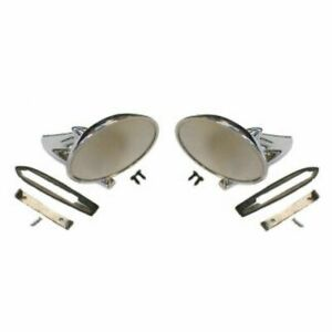 Chrome Mirrors Pair Set Left Lh Right Rh For Bonneville Tempest Firebird