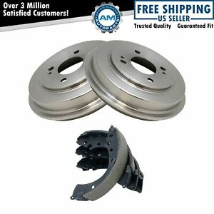 Rear Brake Shoes 2 Drums Set Kit For 4 Stud Wheels New For 01 05 Honda Civic