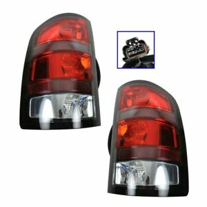 Red Border Brake Taillight Taillamp Pair Set Of 2 For 07 09 Gmc Sierra Denali