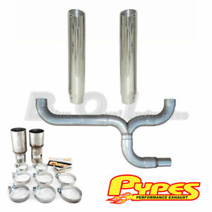 Pypes Ford 7 3l Power Stroke Super Duty Diesel Polished Dual 6 Stacks Kit