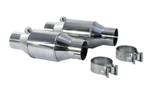 1986 2010 Ford Mustang 2 5 Pypes High Flow Ceramic Cats Catalytic Converters Pr