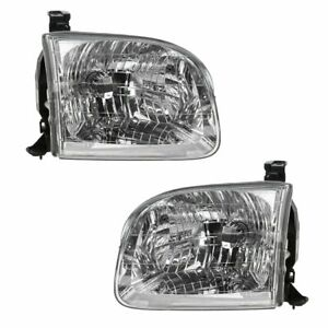 Headlights Headlamps Left Right Pair Set For Toyota Sequoia Tundra Truck