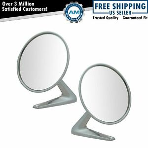 Chrome Side View Mirrors Pair Set Of 2 For Grand Prix Gto Bonneville Catalina