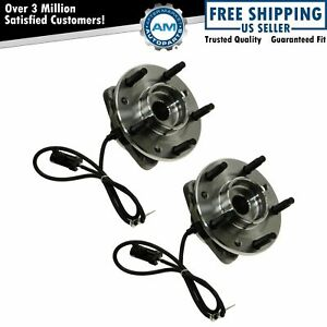 Front Wheel Hubs Bearings Pair For 97 05 Chevy S10 Blazer Jimmy