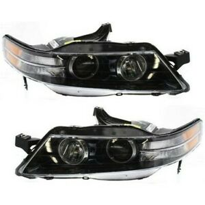 Headlight Set For 2007 2008 Acura Tl Type s Model Left And Right 2pc