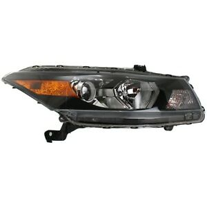 Headlight For 2008 2012 Honda Accord Coupe Right Smooth Contour Turn Signal