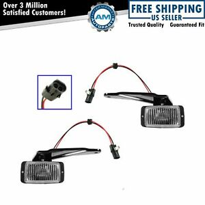 Fog Driving Light Pair Set For 88 98 Chevy Gmc C K 1500 2500 3500 New