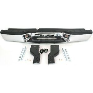 Step Bumper For 1998 2004 Chevrolet S10 With Black Pads Rear