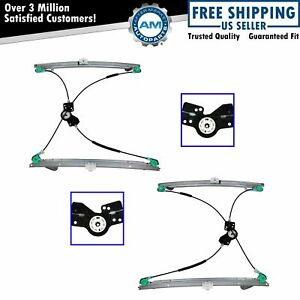 Power Window Regulator Front Lh Rh Left Right Pair For 01 03 Caravan Voyager Tc