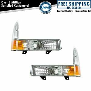 Diamond Style Corner Parking Signal Light Pair For Excursion F250 F350 F450 F550