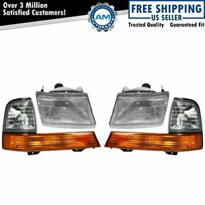 Headlights Headlamps Corner Parking Lights Left Right Set Kit For Ranger