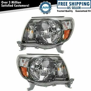 Headlights Headlamps Left Right Pair Set For 05 11 Tacoma Sport Pickup Truck