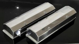 Sbc Chevy Polished Fabricated Tall Aluminum Valve Covers No Acc Holes 6350 Pol