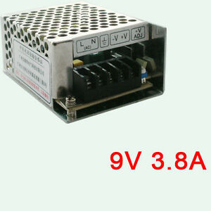 Aluminum Universal Regulated Switching Dc 9v 3 8a 35w Power Supply Converter