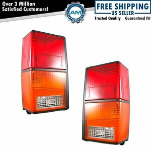 Rear Brake Taillights Taillamps Lights Lamps Pair Set For 84 96 Jeep Cherokee