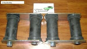Leaf Spring Rear Shackle Kits Pair Camaro Nova Firebird shackles Bushings Kit