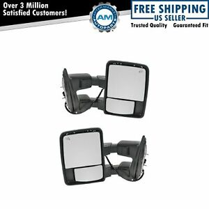 Towing Power Heated Side View Mirrors Turn Signal Pair Set For 08 10 Super Duty