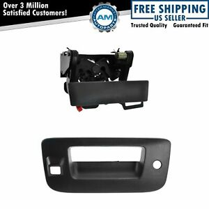 Tailgate Handle Bezel Kit With Lock Camera Hole Textured Black For Gm Pickup