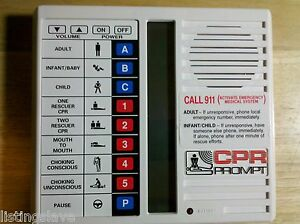 Cpr Prompt Voice Command Rescue Aid Model Ii Soft Case And Instructions