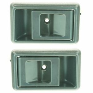 Gray Inner Interior Inside Door Handle Pair Set For Toyota Corolla Pickup Truck