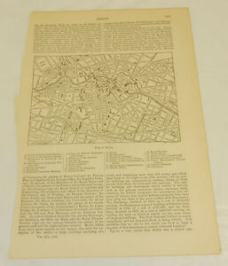 1875 Antique Map Berlin Germany