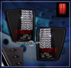 For 2005 2006 Jeep Grand Cherokee Led Tail Brake Lights Rear Lamps Black