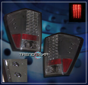 For 2005 2006 Jeep Grand Cherokee Led Tail Brake Lights Rear Lamps Smoke