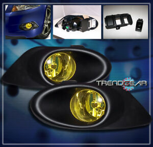 2008 2009 2010 Honda Accord Ex Lx S 4dr Sedan Bumper Yellow Fog Lights Lamp Bulb