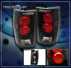 1997 2002 Ford Expedition Tail Brake Lights Rear Lamps Black 1998 1999 2000 2001