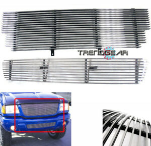 2001 2003 Ford Ranger Xlt 4wd edge Upper bumper Lower Billet Grille Grill Combo