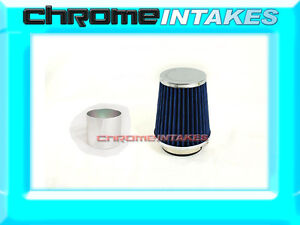 Blue Universal 3 76mm Small Air Filter For Chrysler Air Intake pipe