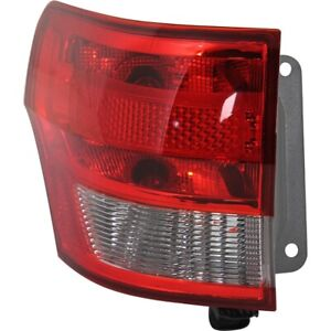 Tail Light For 11 13 Jeep Grand Cherokee Driver Side Outer Body Mounted
