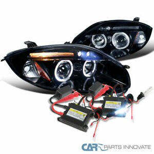 Glossy Black 2006 2011 Eclipse Smoke Led Projector Headlights H1 6000k Hid Kit
