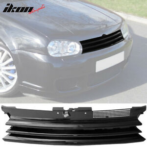 Fits 99 06 Vw Golf Mk4 Gti R32 Badgeless Front Hood Grill Grille Black Abs