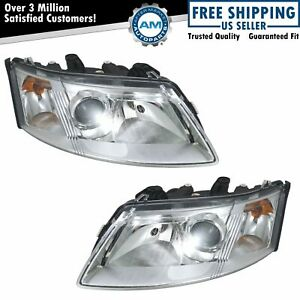 Headlights Headlamps Left Right Pair Set New For 03 07 Saab 9 3
