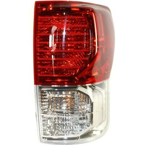 Halogen Tail Light For 2010 2013 Toyota Tundra Right Clear Red Lens W Bulb s