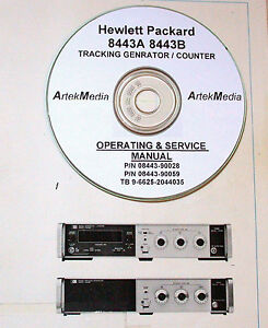 Hp 8443a Tracking Generator 8443b Counter Operating Service Manuals 3