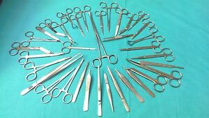 50 Pcs Minor Micro Surgery Surgical Dental Veterinary Instruments Set Kit