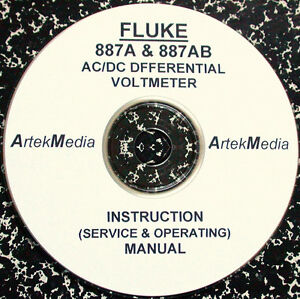 Fluke 887a 887ab Ac dc Differential Voltmeter Instruction Manual ops Service