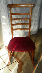 Cherry Ladderback Sewing Rocker Rocking Chair R44