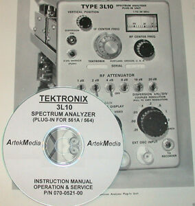 Tek Tektronix 3l10 Spectrum Analyzer Operating Service Manual