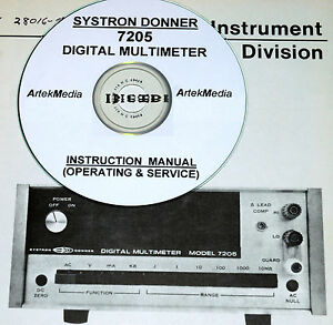 Systron Donner 7205 Operating Service Manual