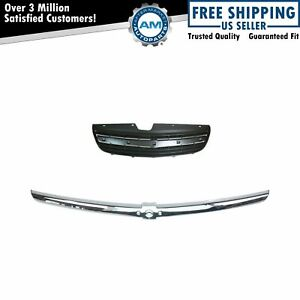 Grille W Chrome Trim Gray Molding For Chevy Malibu Classic