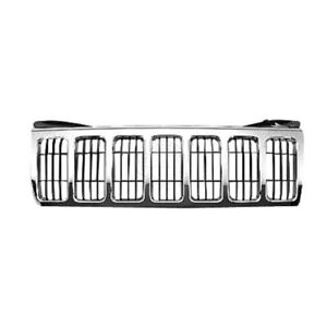Grille Chrome W Black Bars For 08 10 Jeep Grand Cherokee