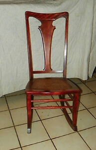 Cherry Caned Sewing Rocker Rocking Chair Jlc R150