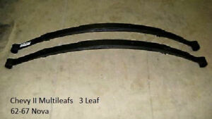 Nova Multileaf Rear Springs Set 62 67 3 leaf Multi Leaf Spring Chevy Ii