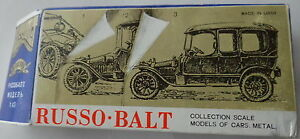 russian russo balt metal car scale