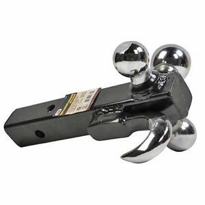 3 In 1 Triple Tri Receiver Ball Mount With Hook Truck Trailer Tow 2 2 5 16