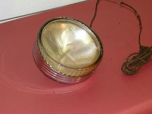 1920s Antique Fire Rescue Truck Ilco ray Flood Lite Light 8 Chrome Over Brass